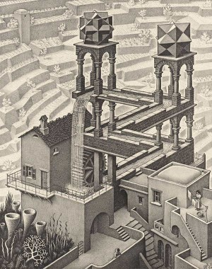 M.C. Escher's Waterfall lithograph